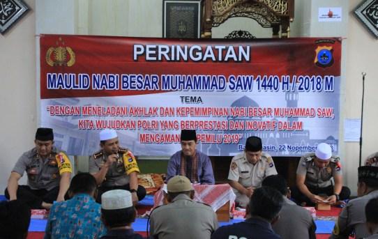 Peringatan Maulid Nabi Besar Muhammad SAW di Polresta Banjarmasin
