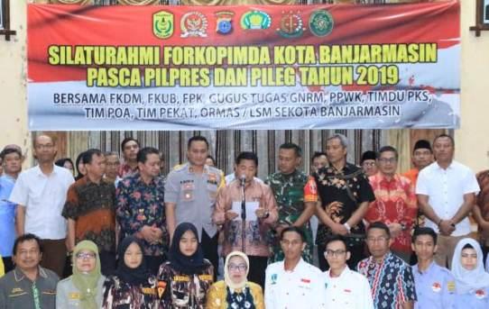 Kegiatan Silaturahmi Forkopimda Kota Banjarmasin Pasca Pilpres dan Pileg 2019