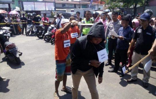 Polsek Banjarmasin Barat Lakukan Reka Ulang Kasus Pembunuhan