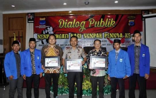 PC PMII dan Polresta Banjarmasin Gelar Dialog dalam rangka hari sumpah pemuda ke 91