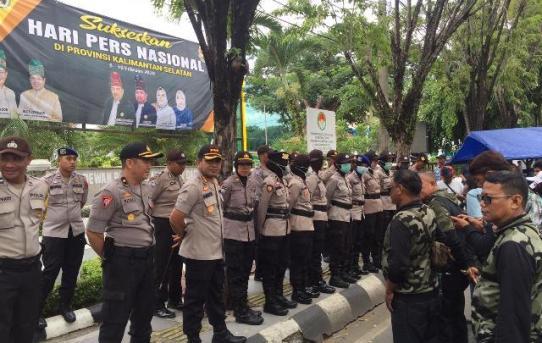 Kapolresta Banjarmasin Pimpin Pergelaran Pengamanan Aksi Unjuk Rasa
