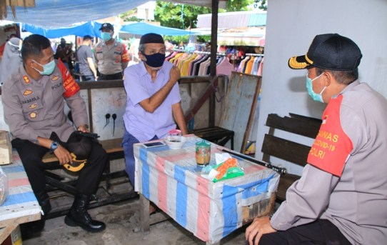 Kapolresta Banjarmasin Kunjungi Pos Disiplin Covid-19 Kota Banjarmasin