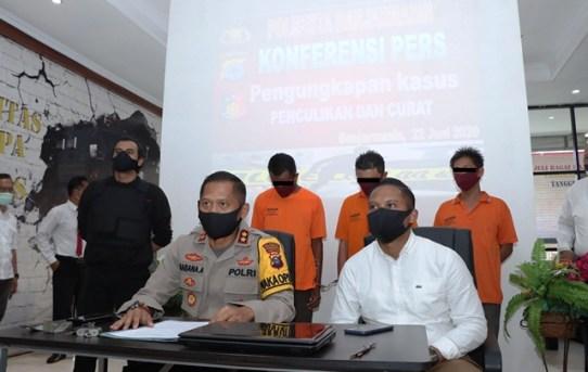 Satuan Reskrim Polresta Banjarmasin Ungkap Kasus Penyekapan dan Penculikan