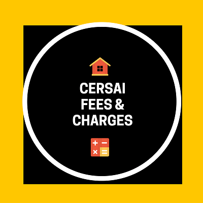 CERSAI Fees and Charges