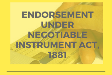 Endorsement under negotiable Instrument Act