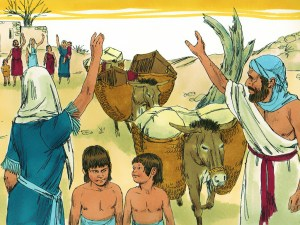 Fateful departure. Family of Elimelech