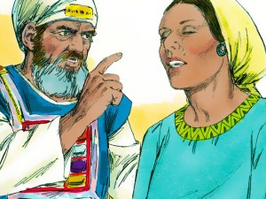 Chief Priest Eli scolds Hannah
