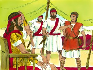 David requests Saul to send him against Goliath