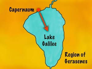 Map showing Sea of Galilee