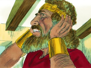 David weeps for son Absalom