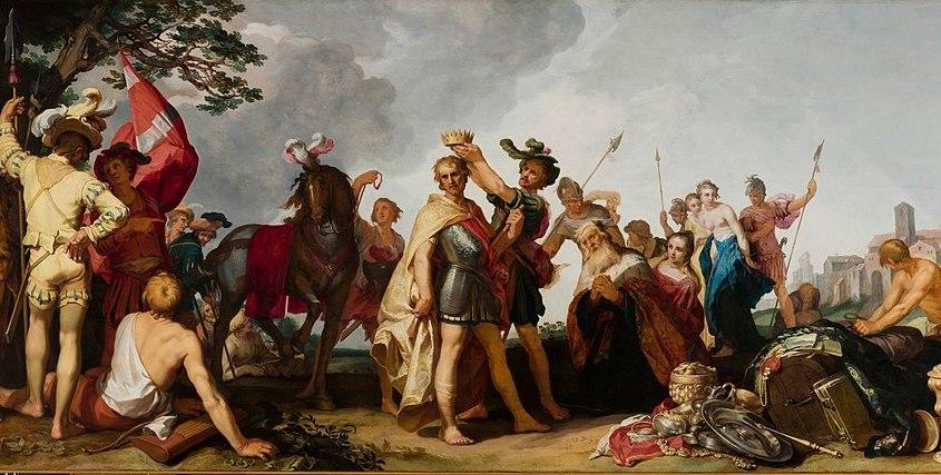 A coronation scene