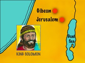 Map showing Jerusalem and Gibeon
