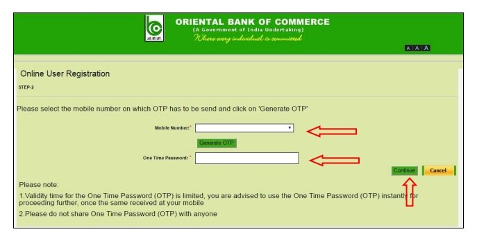 oriental bank of commerce login