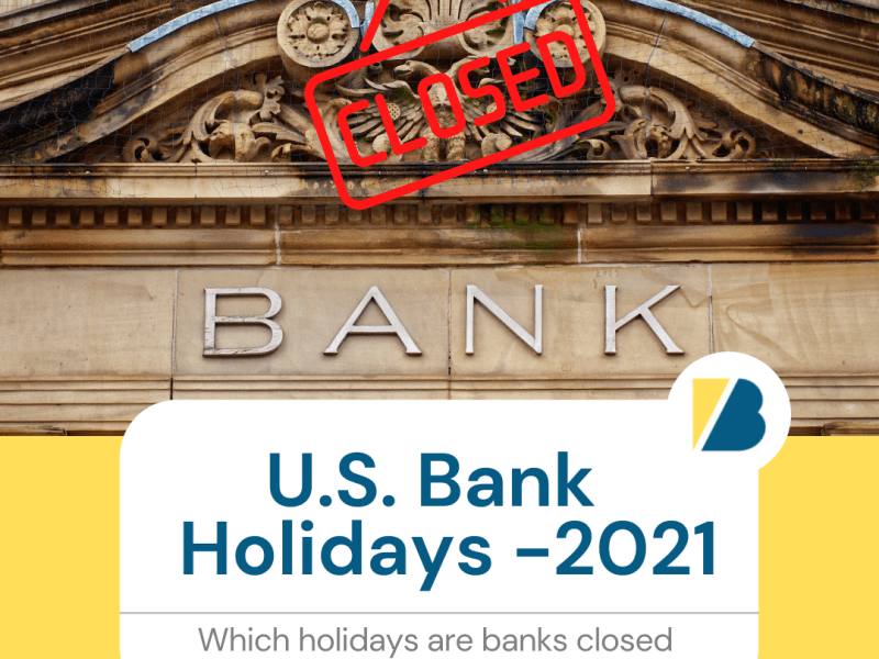 """U.S. Bank Holidays - 2021"""