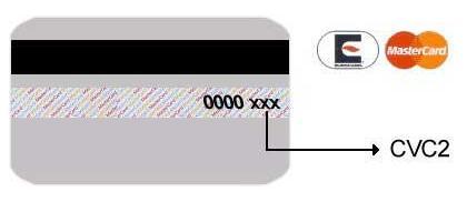 CVC2 마스터 카드 카드 (9521 바이트)