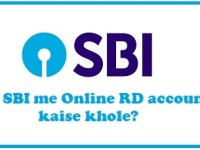SBI me Online RD account kaise khole