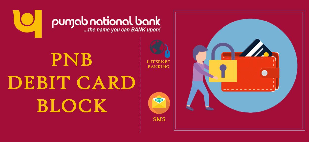 block PNB ATM/Debit card