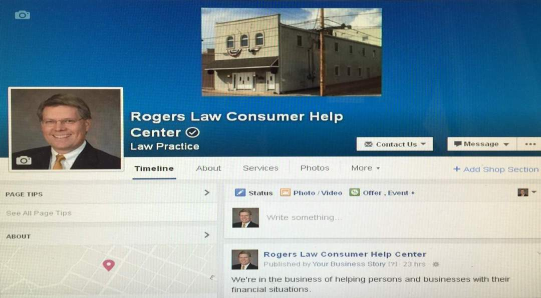 Check out our Facebook Page at Rogers Law Consumer Help Center !