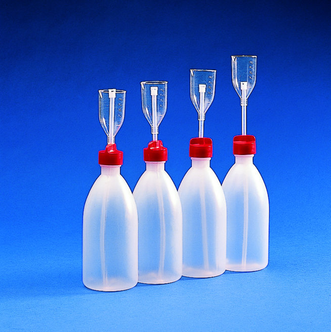 ADJUST. VOLUME DISPENSER BOTTLE PE/TPX   | 50/250 ml