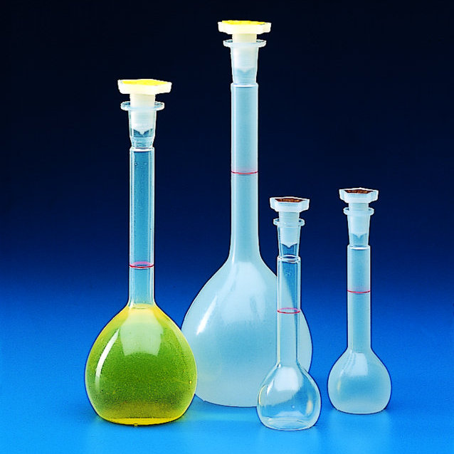 VOLUMETRIC FLASKS PP  with 19/26 Stopper   | 1 lt