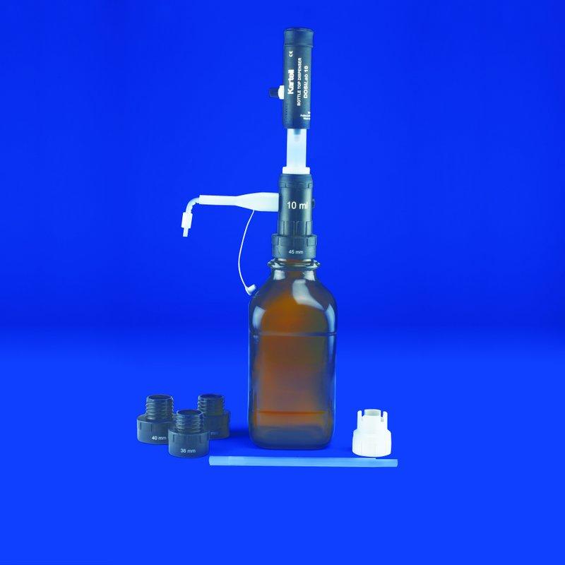 'DOSILab' ADJ. VOL. BOTTLE TOP DISPENSER  30 ml Capacity : 0.50 ml Div.   | 2.5 - 30 ml