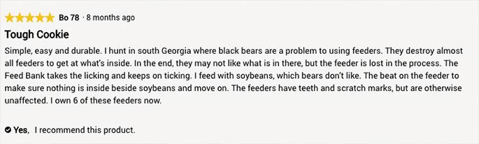 review of banks deer feeder