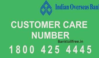 IOB customer care toll free number