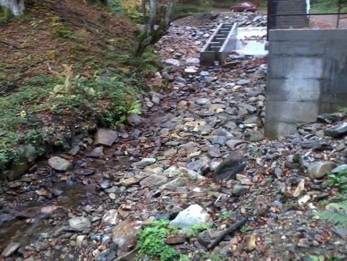 Gobeljska reka flowing over the weir of the Samokovo hydropower plant 2- Bankwatch