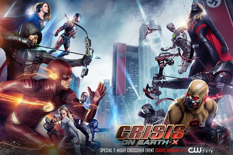 Poster chính của tập crossover Crisis on Earth-X