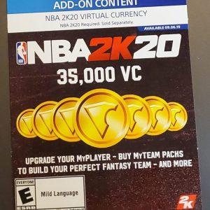 NBA 2K20 – 35,000 VC (PlayStation)