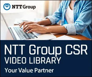 NTT Group_NTT Group CSR VIDEO LIBRARY_300 x 250のバナーデザイン