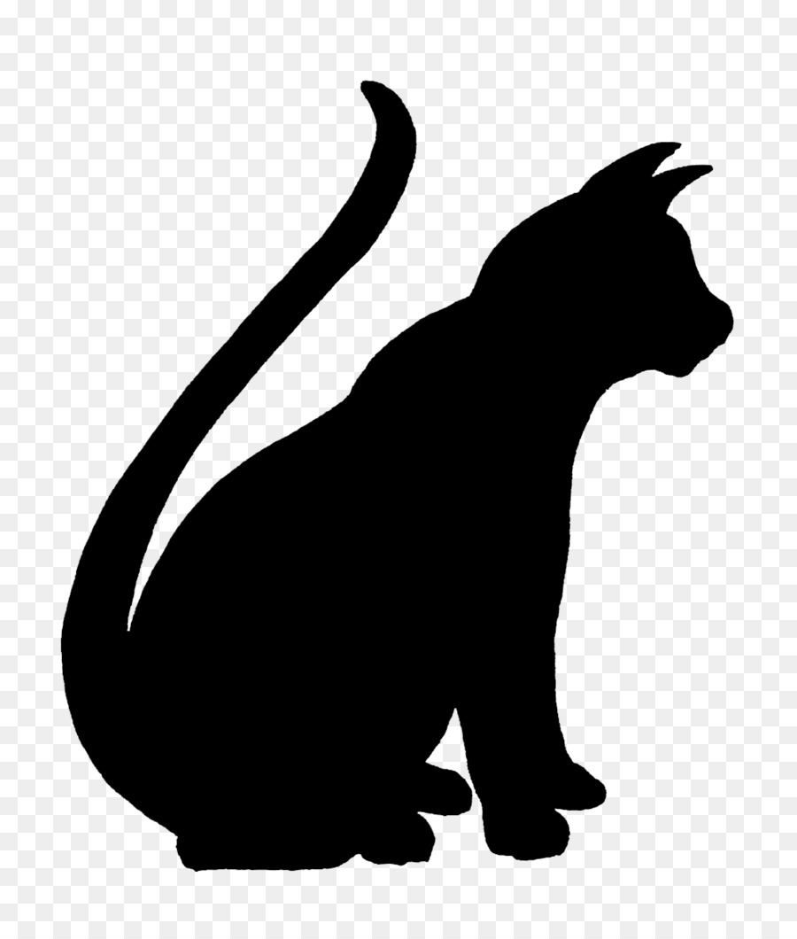 cat silhouette png download 1004 1165