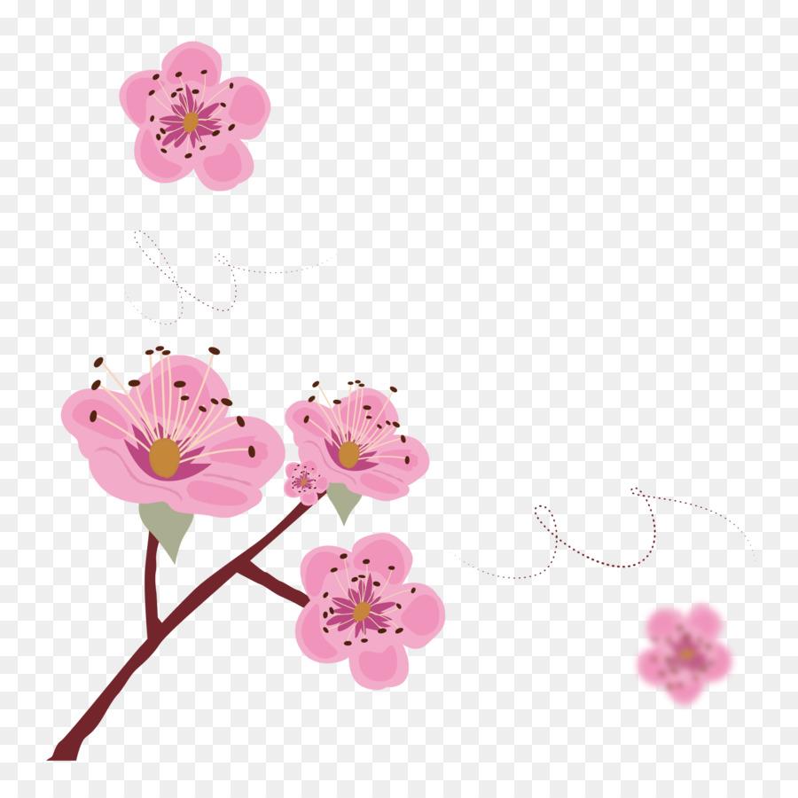 cherry blossom poster illustration