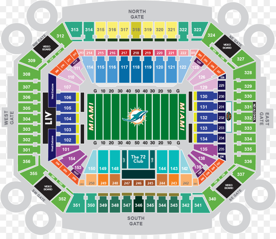 hard rock stadium seating chart dolphins   review home decor