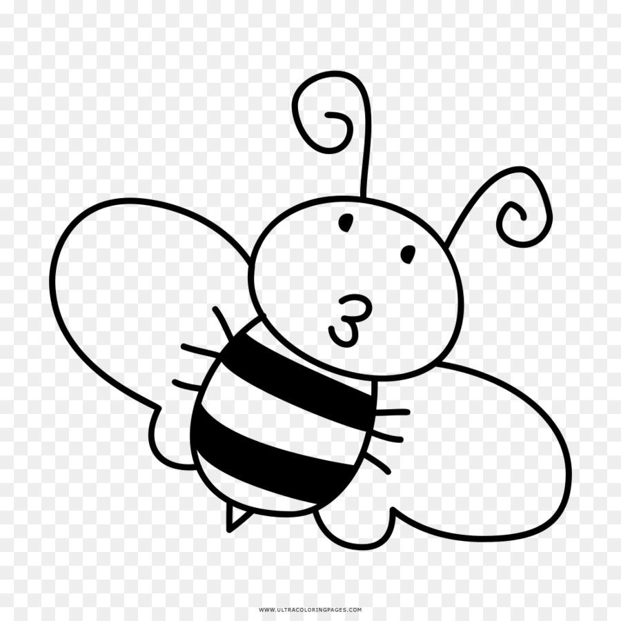 Westliche Honigbiene Zeichnung Hummel Clipart Schwarze Und
