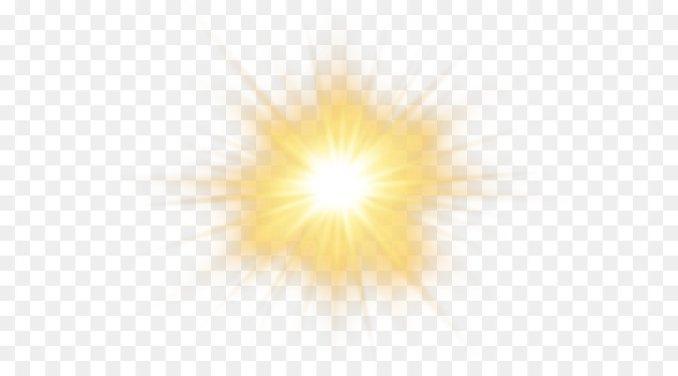 Sunlight Sky Yellow Pattern - Sun Effect Transparent PNG