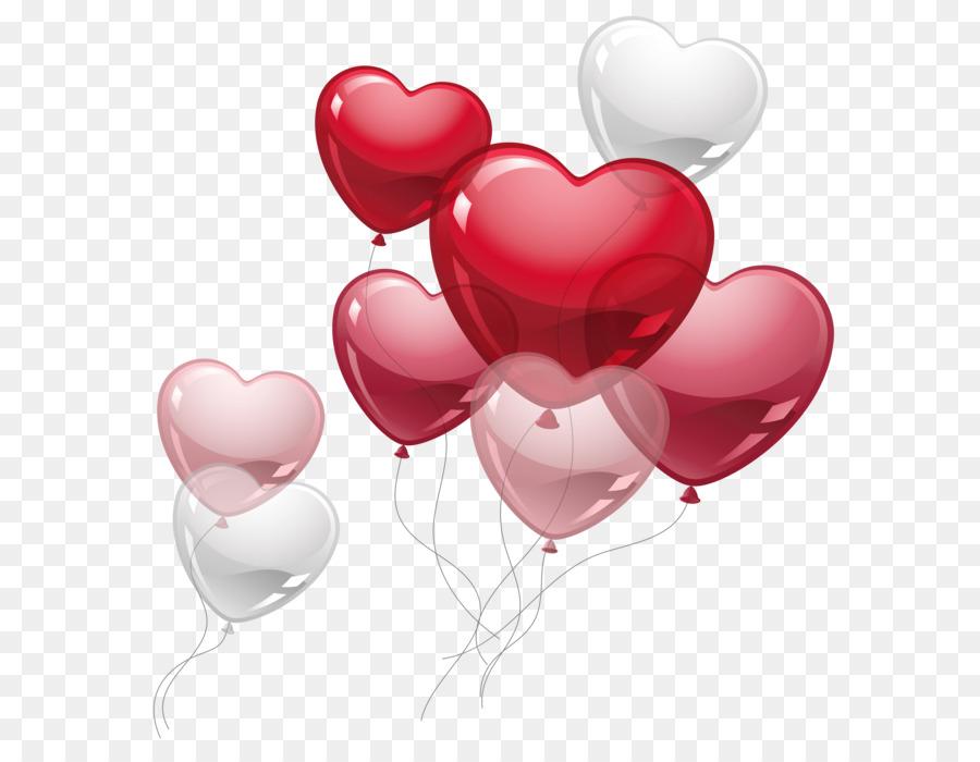 Heart Balloon Clip Art Cute Heart Balloons PNG Clipart