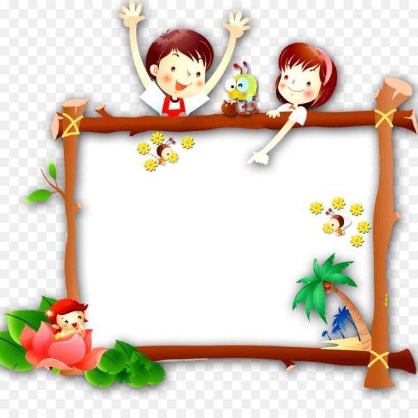 Cartoon Child - Children's Day Border png download - 1000 ...