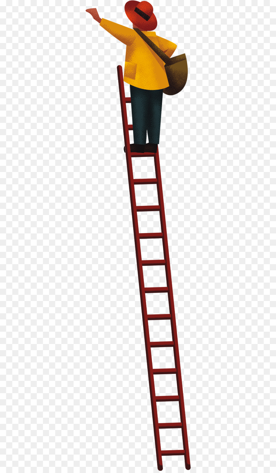 Vecteur Climb The Ladder Boy 344 1533 Transprent Png Free Download Angle Line Wing