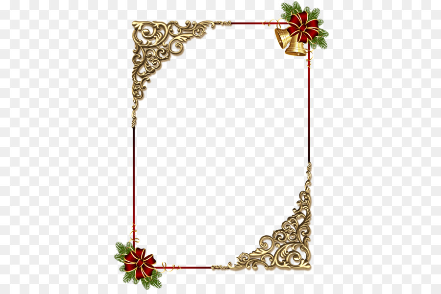 Borders And Frames Christmas Ornament Picture Frame Clip