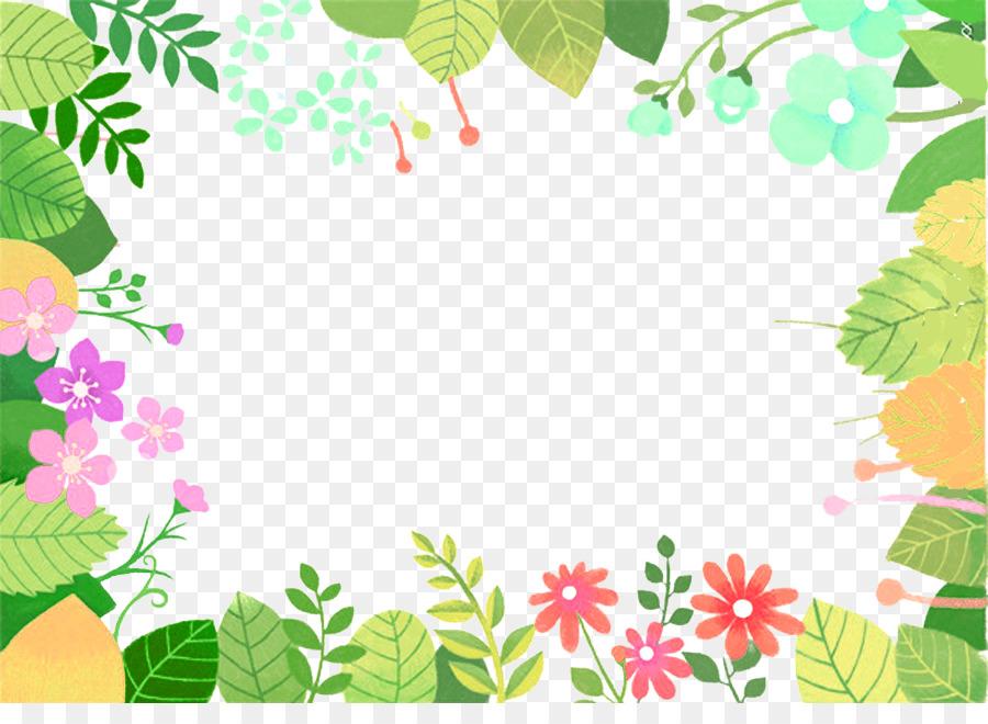 Floral Design Green Leaf Cartoon Animation Green Cartoon Leaves Bouquet Border Texture 900 641