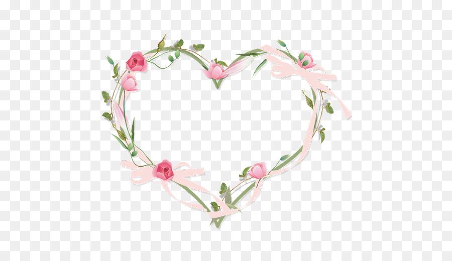 Picture Frames Heart Flower Clip Art Watercolor Flower