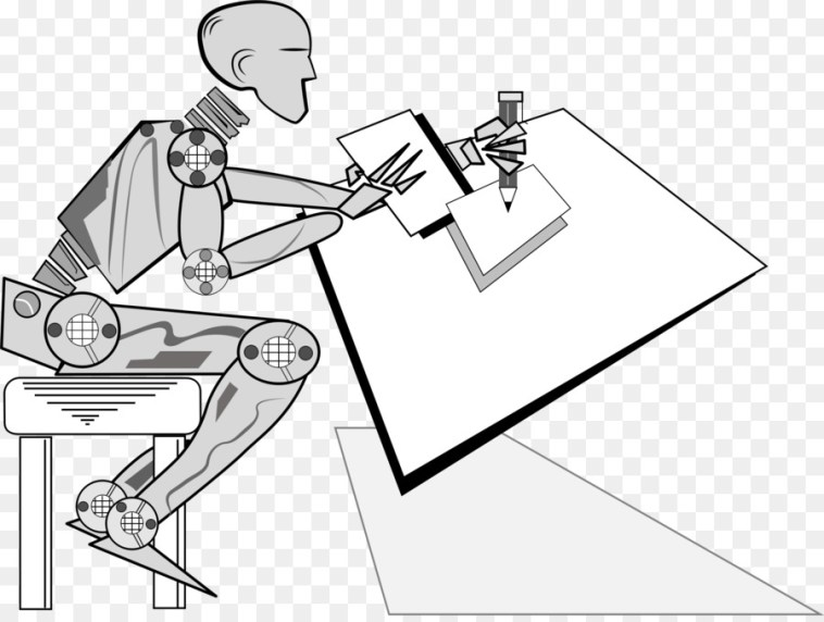 Humanoid robot Drawing Clip art - robot @kisspng