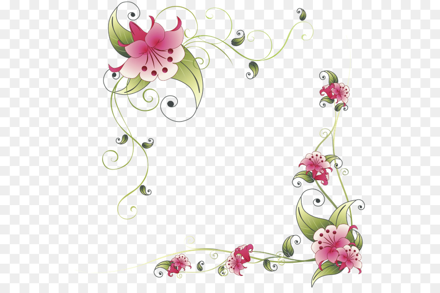 Borders And Frames Border Flowers Clip Art Flower Png