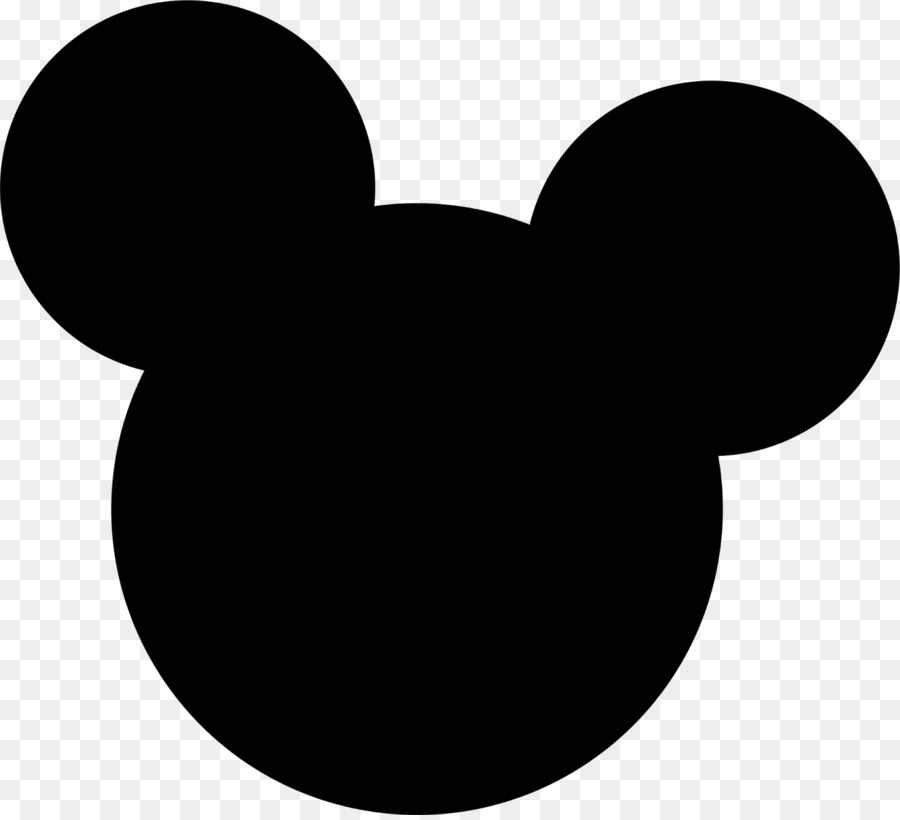 Mickey Minnie Mouse Head Silhouette