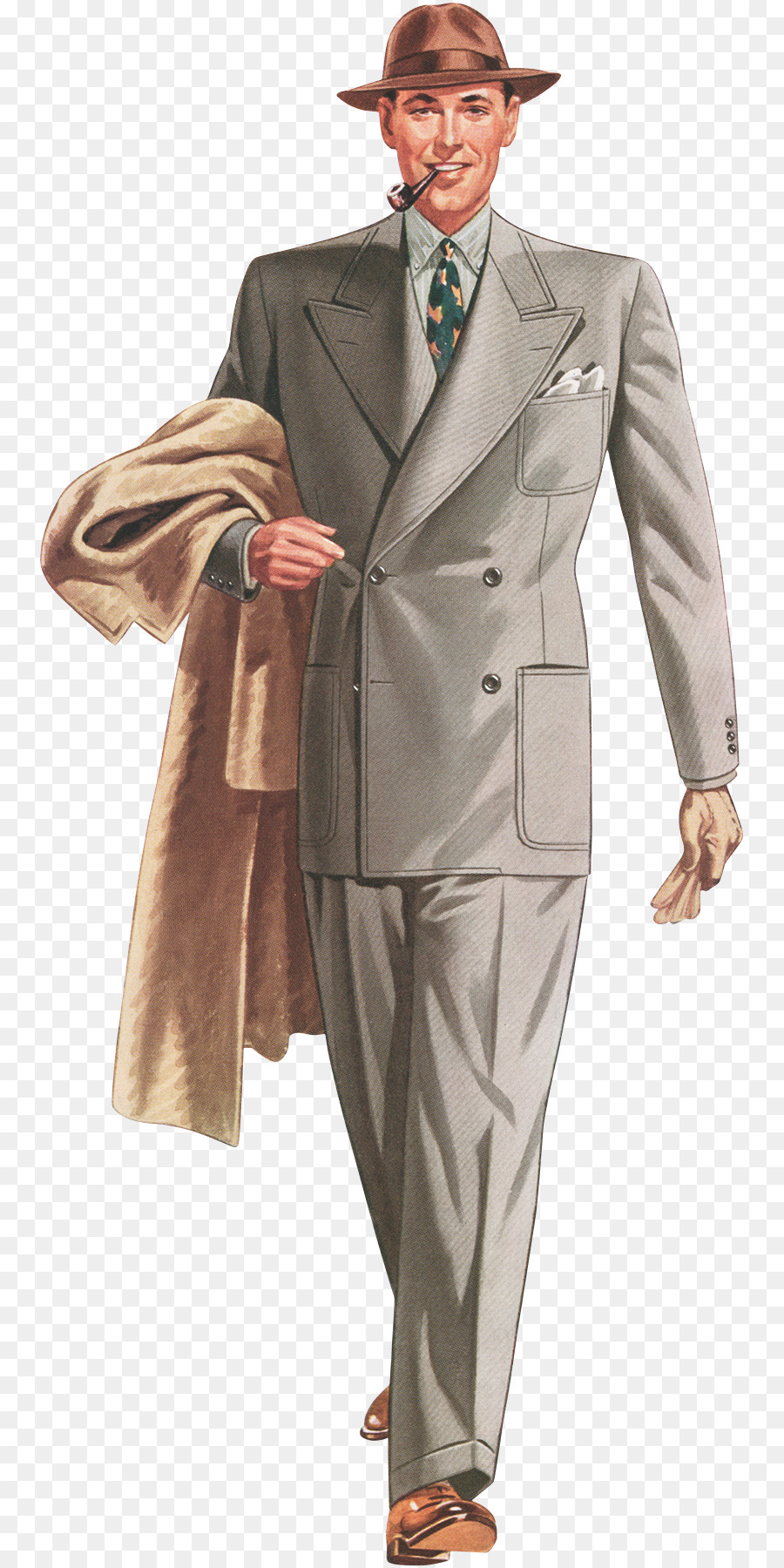 1930s 1940s Fashion Suit Vintage clothing   gentle men png download     1930s 1940s Fashion Suit Vintage clothing   gentle men