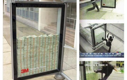 3M Security Glass Street sign