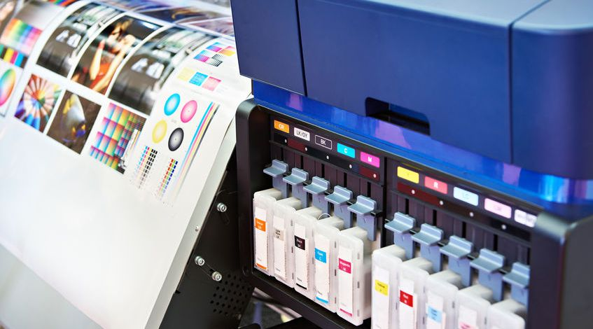 ink and cartridges in plotter printer