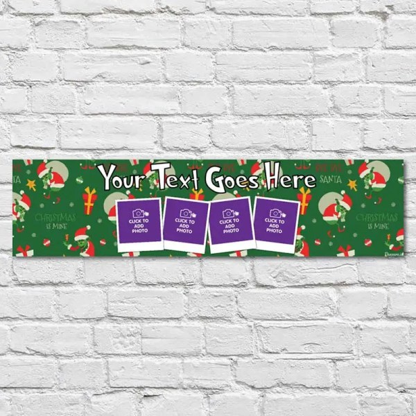 Personalised Christmas Banner with The Grinch Theme