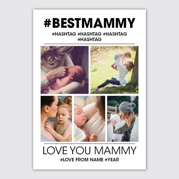 personalised photo collage poster for mammy